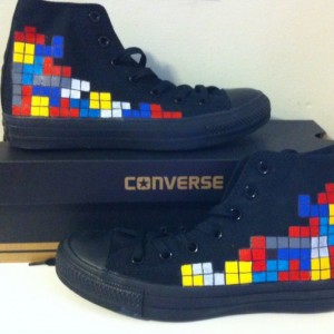Tetris, Custom Converse, Video Game, Retro, Gaming