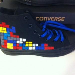 Tetris, Custom Converse, Video Game, Retro, Gaming