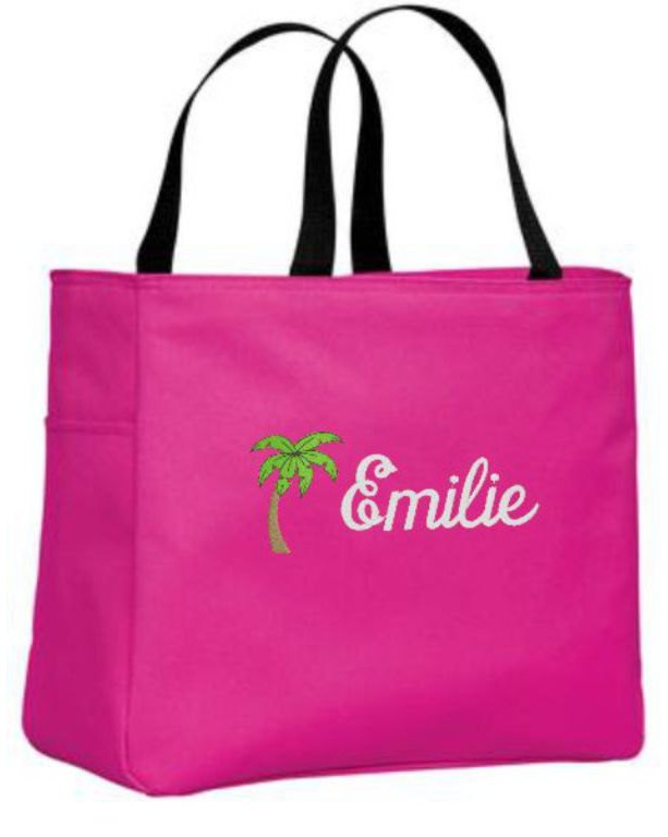 Personalized Tote Bag Palm Tree Design Girlfriend Gift Bridesmaid Gifts Destination Wedding