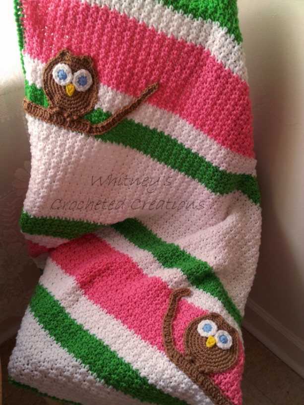 crochet owl blanket, afghan, baby afghan, owl afghan, toddler afghan, toddler blanket, bed spread, bed set, handmade, photo prop