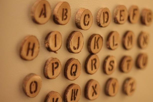 wood alphabet magnets 1
