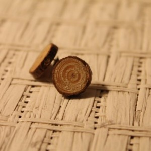 Wood Stud Earrings. Natural Handmade Jewelry.
