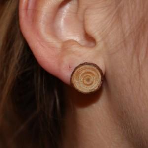 Wood Stud Earrings. Natural Handmade Jewelry.
