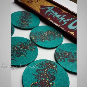 Henna Art Designed Coasters - Round/Square (4)