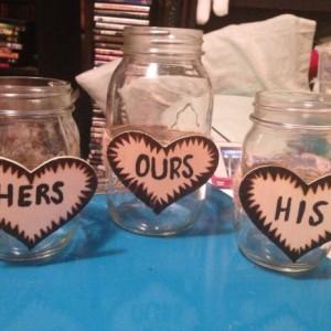 Mason jar unity set