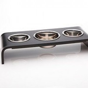 6 Inch Triple Bowl Elevated Feeder