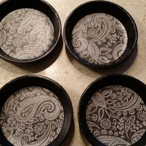 Contemporary Black Drink Coasters
