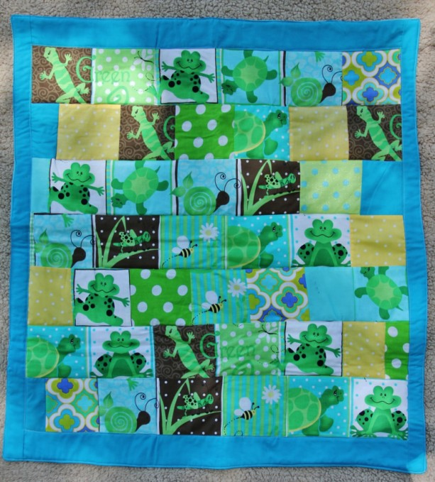 Ready to ship**** Frog/Reptile Theme Quilt*** One of a kind patchwork ****