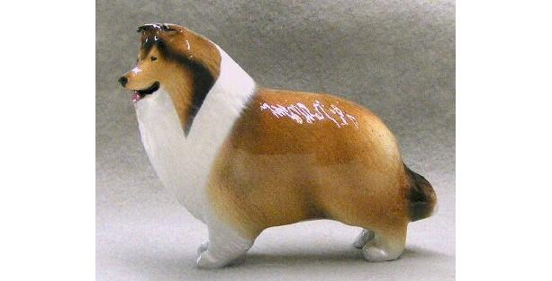 Ron Hevener Collectible Collie Dog Figurine