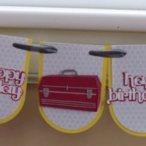 Men's Birthday banner, birthday card for a special guy.