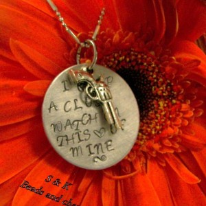 Custom personalized, Johnny Cash  necklace ,I keep a close watch on this heart of mine