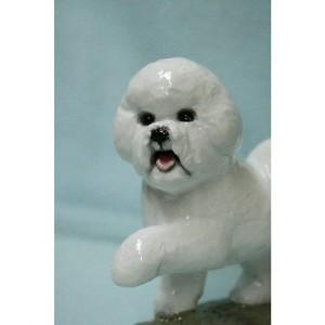 Ron Hevener Collectible Bichon Frise Dog Figurine