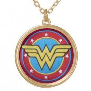Wonder Woman pendant, hand drawn, superhero necklace