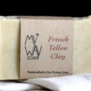 French Yellow Clay Face Soap - Handmade Soap, All Natural Soap, Vegan Soap, Skin Care, Cold Process Soap, Organic Soap