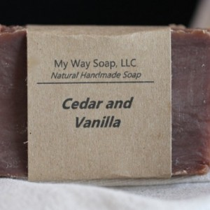Cedar and Vanilla Soap - Natural Soap, Handmade Soap, Men's Soap, Vegan Soap, Mens Gift Set, Men's Skincare