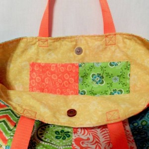 Cotton Lightweight Summery Patchwork Totebag