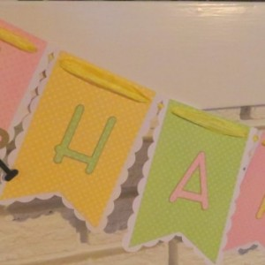 Sock Monkey birthday banner, such a sweet, colorful banner