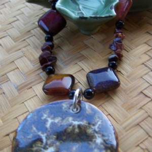 Brown Earthy Necklace- Boho Bohemian