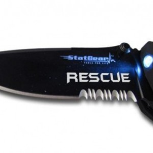 Engraved StatGear T3 Tactical Rescue Tool Groomsmen Gift - Father's Day Gift - Wedding Gift - EMT/Medical Gift - Firefighter Knife