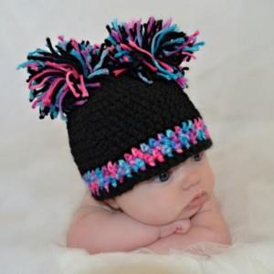 Crochet Baby Pom Pom Hat