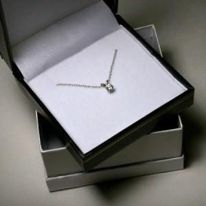 Diamond Necklace, Pendant, 14K White Gold, Genuine Diamond Jewelry, Solitaire Diamond Pendant, Natural Diamond Solitaire Necklace, Yellow