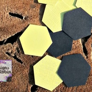 200 B A B Y Hexagon die cuts - beehive die cuts - baby hive - baby shower confetti - bumble bee party - gender reveal party