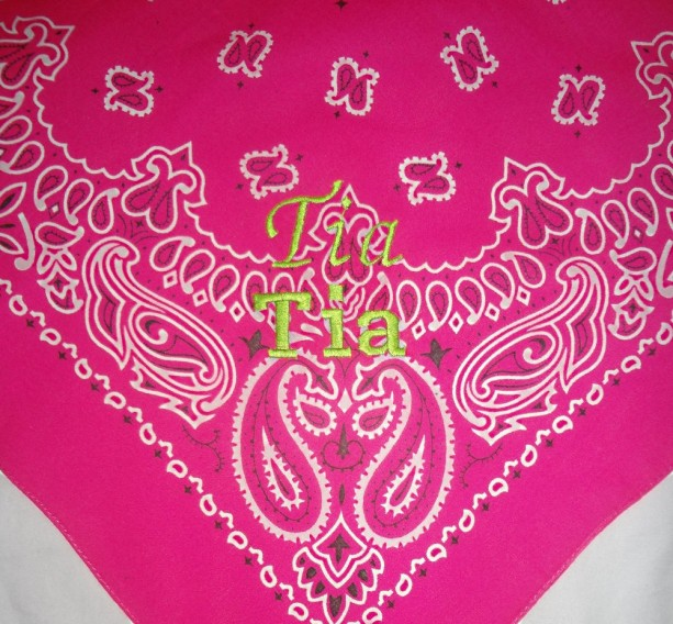 Glow In The Dark Hot Pink Dog Bandana With Electric Green Black Or Grape Juice