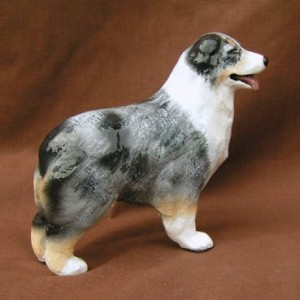Ron Hevener Collectible Australian Shepherd Dog Figurine