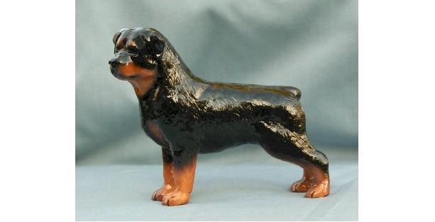 Ron Hevener Collectible Rottweiler Dog Figurine Collectible