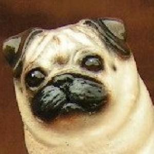 Hevener Collectible Pug Dog Figurine