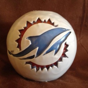 Miami Dolphins - Dolphins - Miami- NFL - Football Fan - Gift - Unscented Candle - Miami Dolphin Collector - Candle - Miami Dolphin Fan