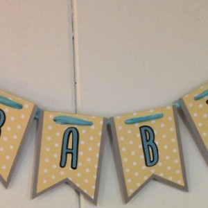 Baby Shower banner - elephant banner