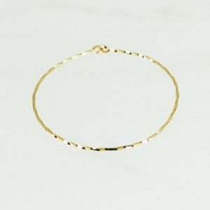 Open Bangle Gold 14k Filled Thin Bracelet Dainty