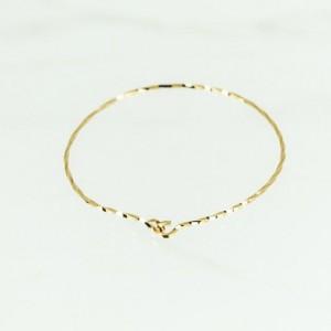 Open Bangle, Gold Bangle 14K Gold Filled, Thin Bangle Bracelet, Dainty Bangle, Twisted Wire Bracelet, Yellow Gold Bracelet, Gold Bangle