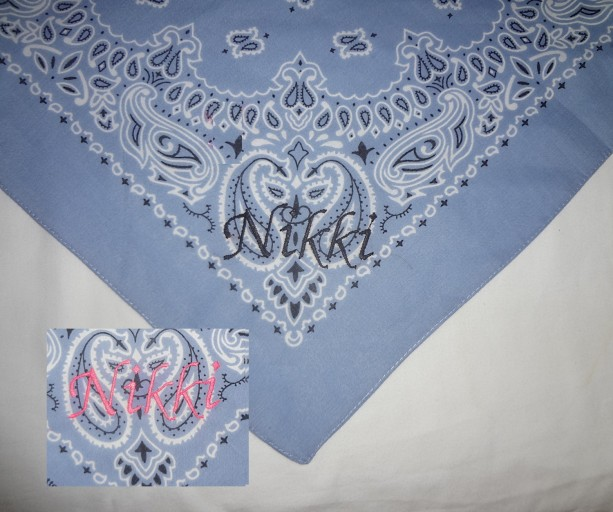 Glow In The Dark Personalized Red Dog Bandana With White