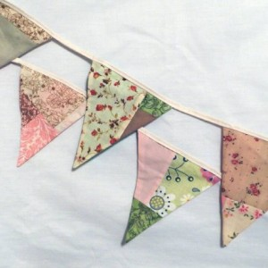 Shabby Country Scrappy Patchwork Wedding Bunting