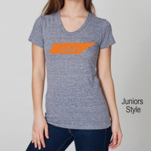 ORANGE SERIES Tennessee TN  Roots or Made Tri Blend Track T-Shirt - Unisex and Juniors Sizes