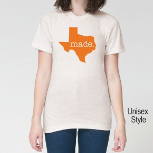 ORANGE SERIES Texas TX  Roots or Made Tri Blend Track T-Shirt  - Unisex and Juniors Size xs-xxl