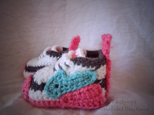 crochet Nike inspired tennis shoes , handmade , crocheted ...