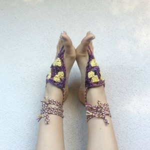 Size 9 AVAILABLE ONLY - Barefoot Sandals - Yoga Shoes - Handmade Sandals - Yoga Sandals -  Hippie Sandals - Yoga Wear - Pink Lemonade