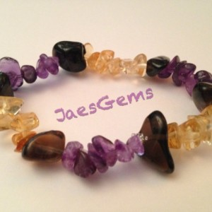 Quartz, Citrine, and Amethyst Healing Bracelet