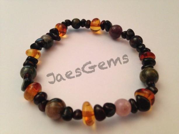 Baltic Amber and Tourmaline Healing Bracelet