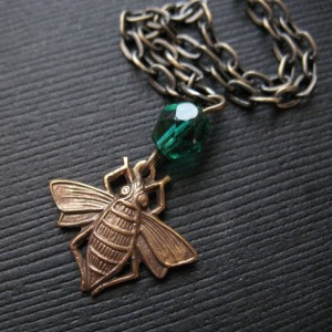 Insect Necklace Bug Charm Necklace Insect Jewelry for Women