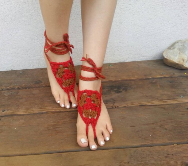 Yoga And Shoes: Crocheted Barefoot Sandals