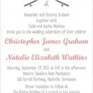 Gone Fishing Wedding Invitation and RSVP Postcard - Modern Design - Printable or Printed - Envelopes Included - Fishing Poles - Hooks - Love