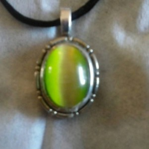 Vintage Green Cat's Eye Pendant
