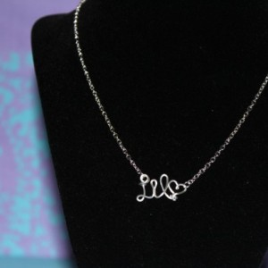 Little Sorority Necklace, Gift for Little, Sorority Gift Necklace, Silver Big Little Necklace