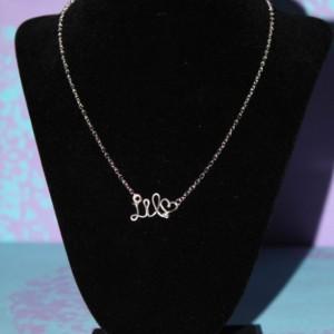 Little Sorority Necklace, Gift for Little, Sorority Gift Necklace, Silver Big Little Necklace