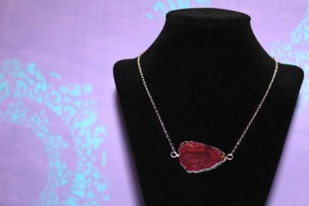 Red Agate Stone Necklace
