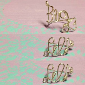 Big Little Twin Ring Set, Big and Little Ring Set, One Big Two Littles